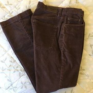 L.L.Bean Brown Corduroy Pants